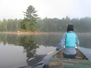 Morning canoe paddle