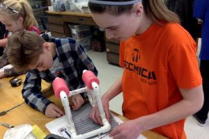 2 Telstar Middle Schoolers construct an underwater remote operated vehicle