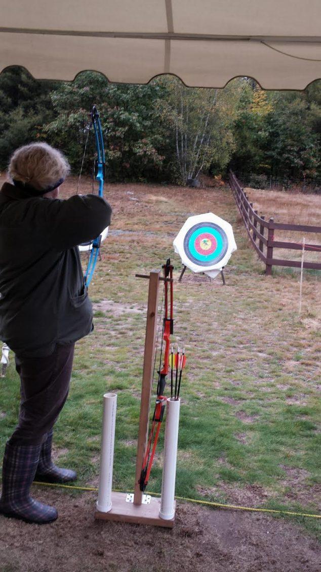 BOW participant at Archery range