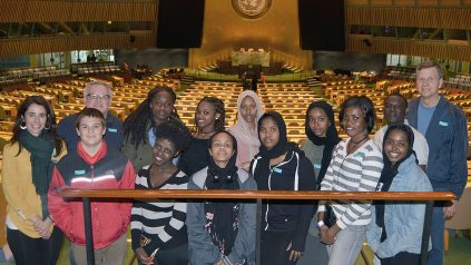 The PHS 4-H club in the General Assembly room at the United Nations.