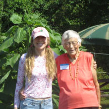 Garden Angel with program participant
