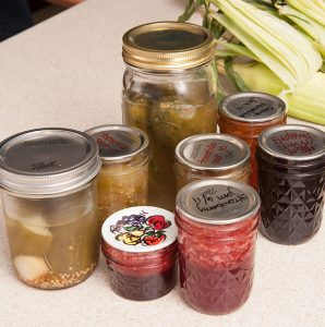 assorted home-canned foods