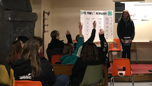 Kids Raising Hands for 4-H Jeopardy
