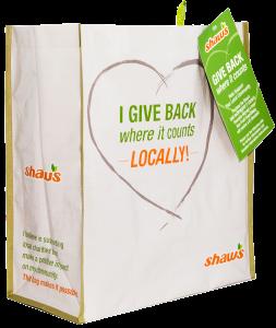 shaws reusable bag
