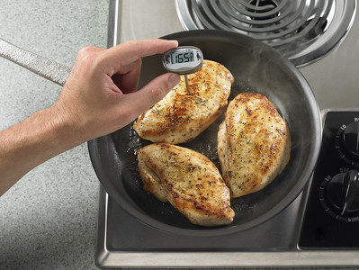 Meat Thermometer in cooking chicken