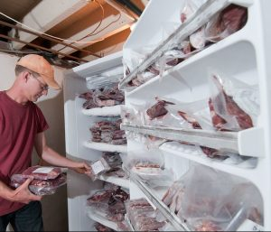 freezer full of meat