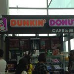 Dunkin' Donuts cafe at an airport