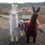 Two llama dolls