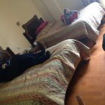 Charles Rodda relaxing in Casa Elena in Cusco.