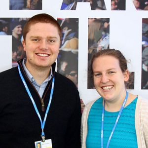 UMaine researchers Will and Anna at a recent COP conference.