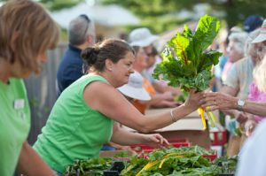 Volunteers distribute fresh produce to hungry Mainers
