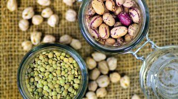 legumes in storage jars