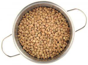 pot of lentils