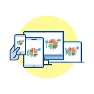 icon graphic for remote education outcomes, adult