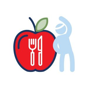 icon graphic for eating smart and being active online course