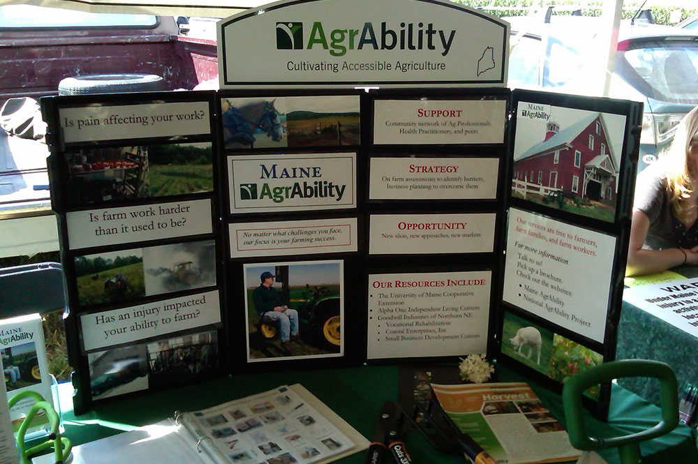 AgrAbility table-top display