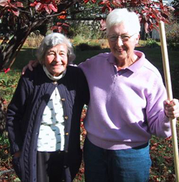 Two participants in the Garden Angel Program
