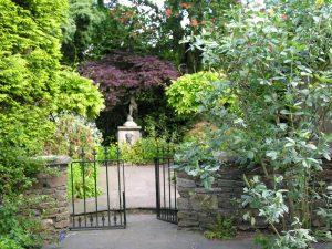 gated entrance to a garden