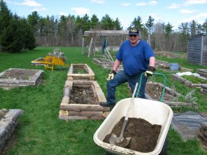 Phil builds more raised beds.