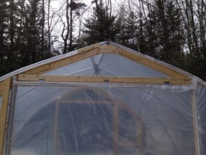"""Greenhouse showing wax expanding """"Univent"""" and removable center for increased spring and summer ventilation."""