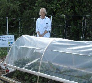 Hoop house with Master Gardener Kim Payne