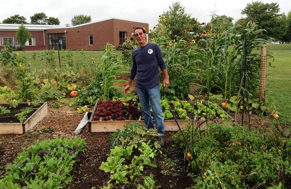 Whether working with students on a school garden…