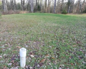 grassy septic field