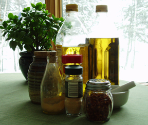 ingredients for homemade Vinaigrette