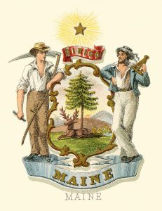 Maine State Arms of the Union
