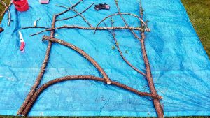 Adding horizontal and diagonal reinforcements to a Twiggy Trellis