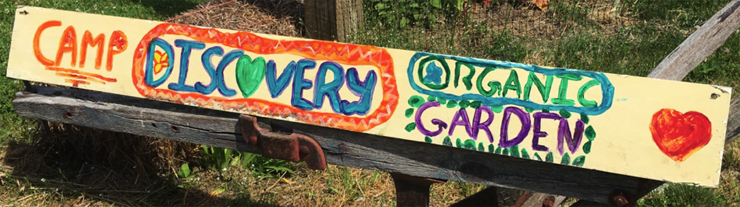Camp Discovery sign