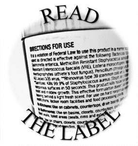 Read the label!