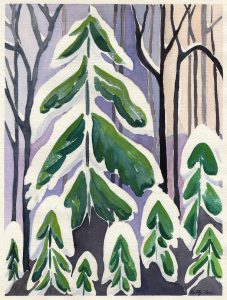 Trees - Painting by Betty