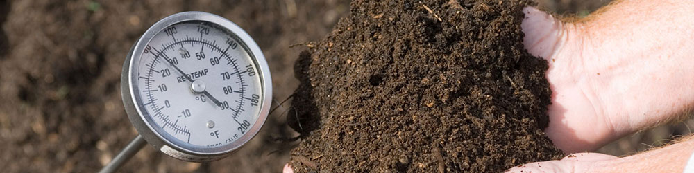 compost and thermometer