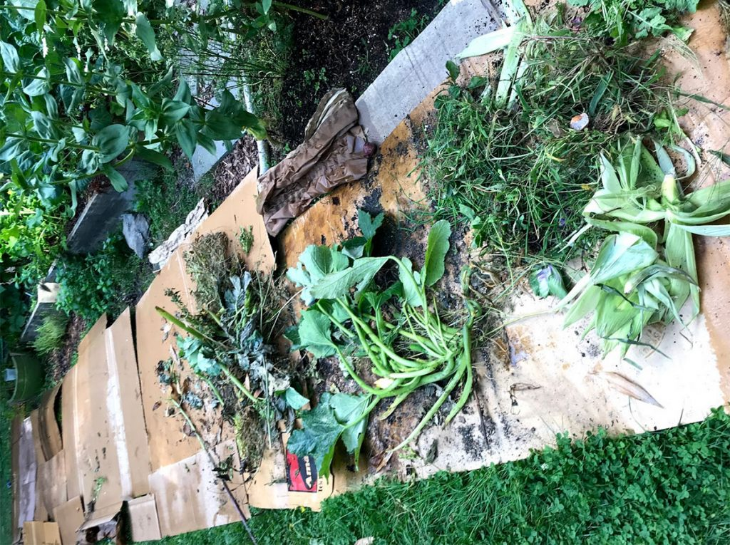 Green compost layer
