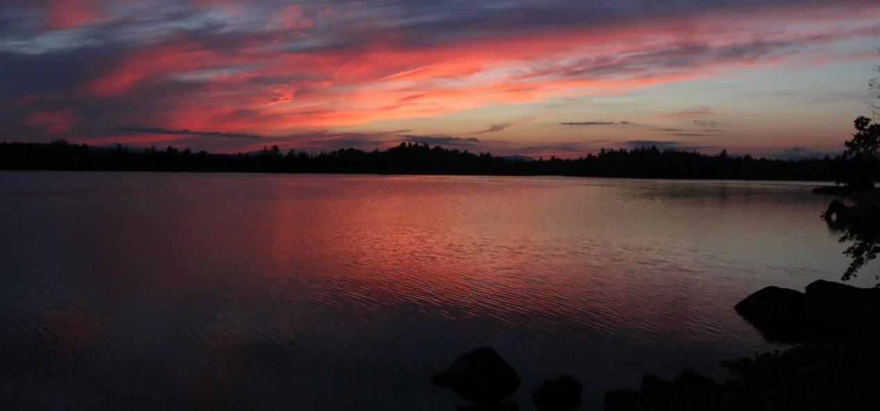 Beautiful camp sunset