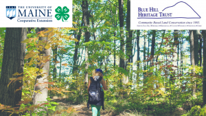 Girl Hiking with 4-H and BHHT logos