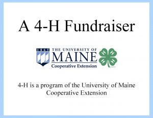 4-H Fundraising Sign