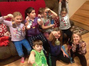Jolly Juniors making ornaments