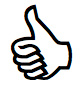 illustration of thumbs up