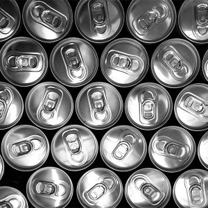 tops of soda cans