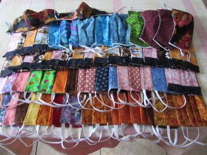 many sewn masks in different fabrics