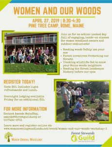 reduced Women and Our Woods Workshop informational flyer