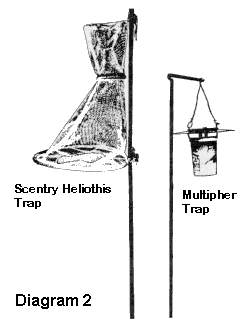 Diagram 2: pheromone traps (Scentry Heliothis Trap and Multipher Trap)