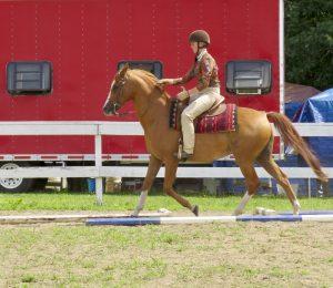 4-H member on horse