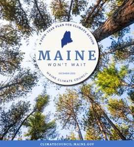 cover of Maine Won't Wait climate action plan