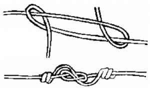 Illustration showing a figure 8 knot