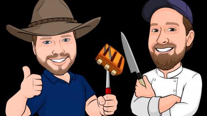 illustration of Colt Knight and Chef Rob Dumas