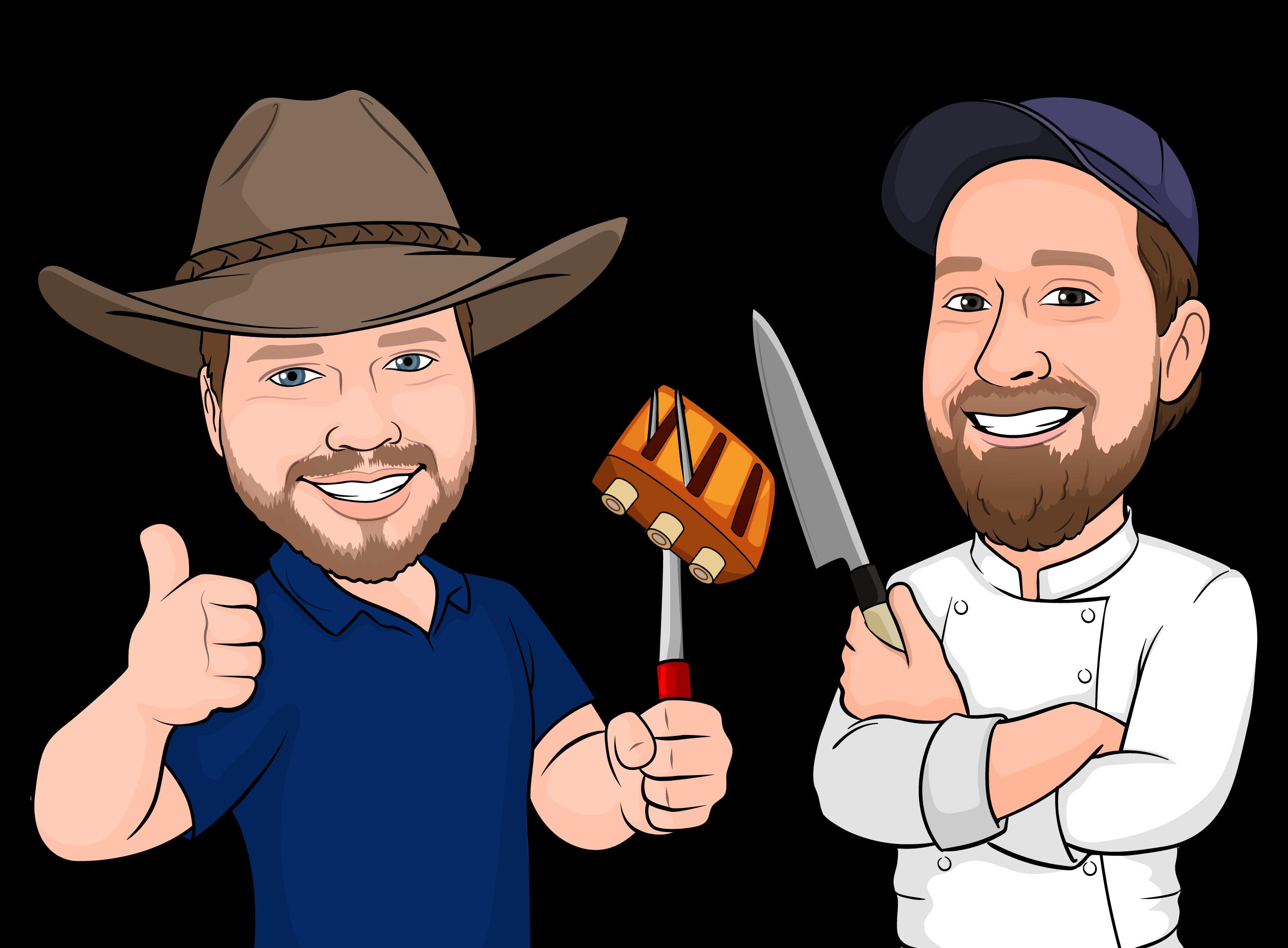 Illustration of Colt Knight and Rob Dumas