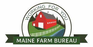 Maine Farm Bureau Logo; working for you